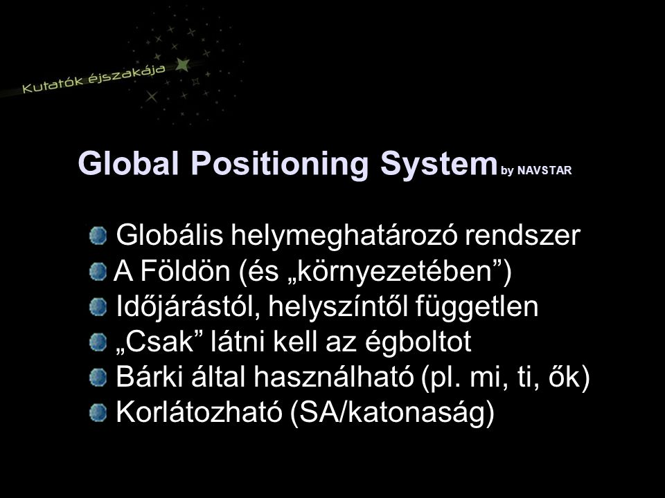 Global Positioning System by NAVSTAR
