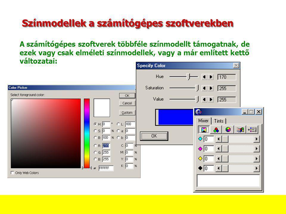 Színmodellek a számítógépes szoftverekben