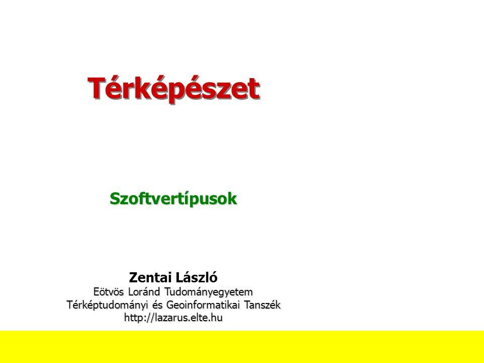 Térképészet Szoftvertípusok Zentai László