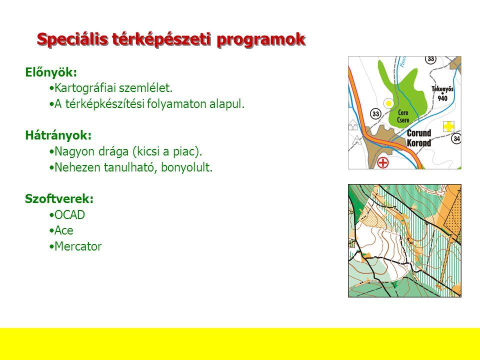 Speciális térképészeti programok