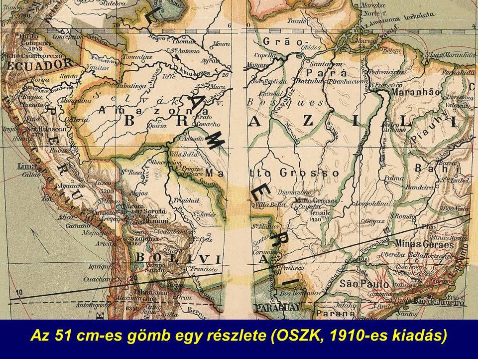 Az 51 cm-es gömb egy részlete (OSZK, 1910-es kiadás)