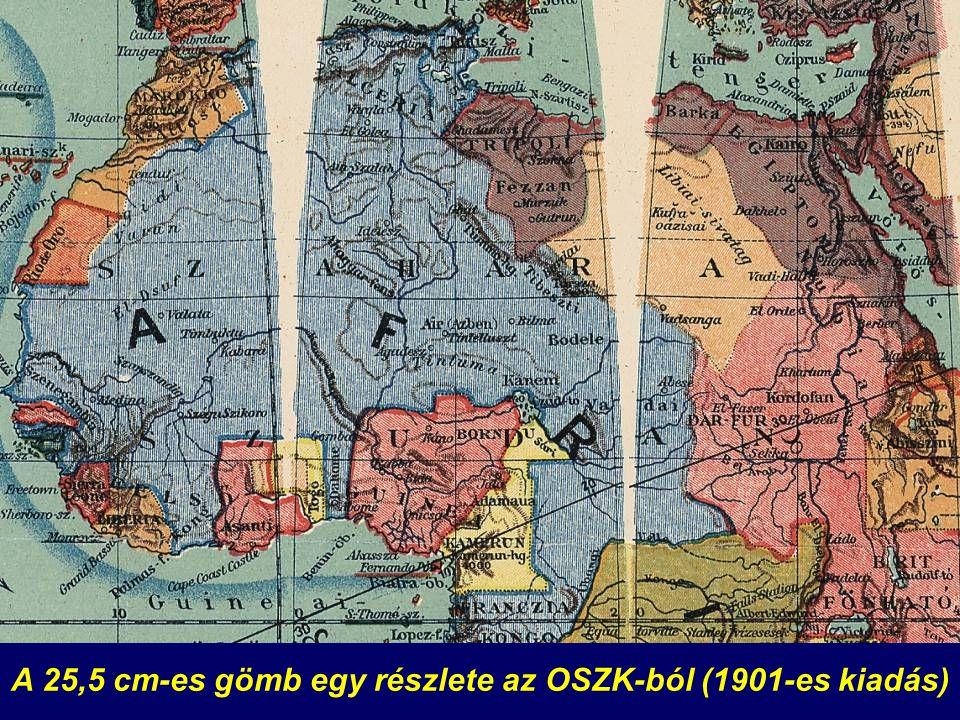 A 25,5 cm-es gömb egy részlete az OSZK-ból (1901-es kiadás)
