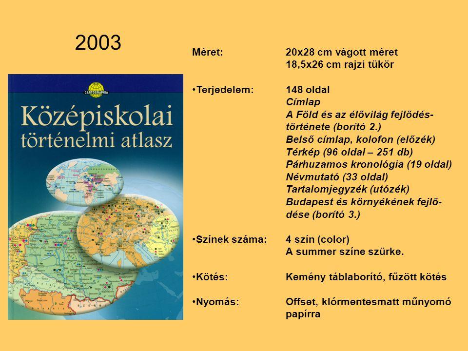 2003 Méret: 20x28 cm vágott méret 18,5x26 cm rajzi tükör