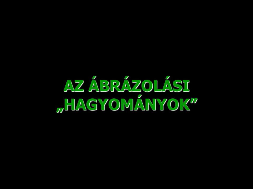 """AZ ÁBRÁZOLÁSI """"HAGYOMÁNYOK"""