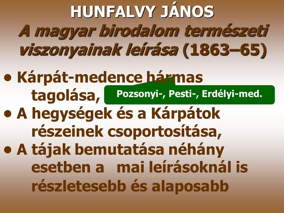 A magyar birodalom természeti viszonyainak leírása (1863–65)