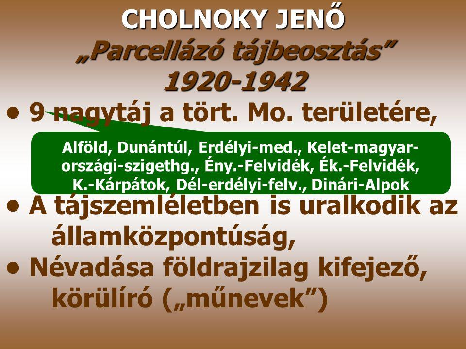 """""""Parcellázó tájbeosztás K.-Kárpátok, Dél-erdélyi-felv., Dinári-Alpok"""