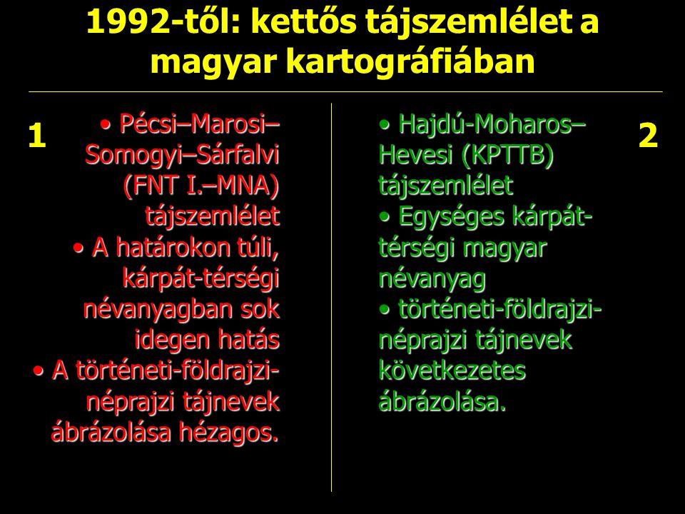 1992-től: kettős tájszemlélet a magyar kartográfiában