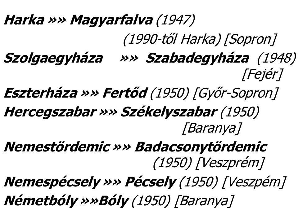 Harka »» Magyarfalva (1947)