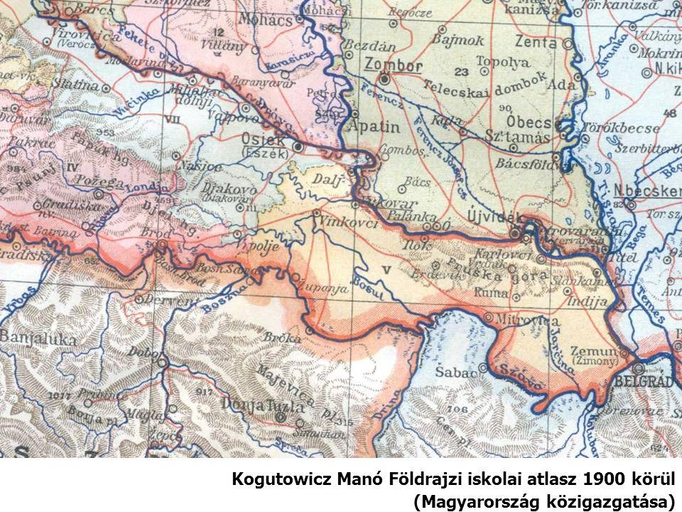Kogutowicz Manó Földrajzi iskolai atlasz 1900 körül