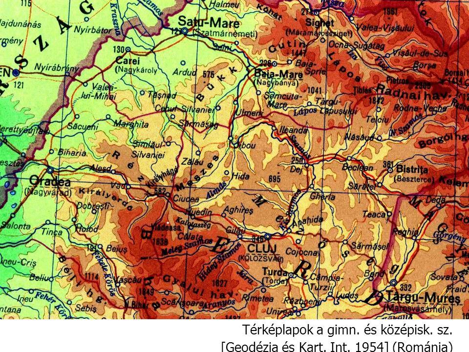 Térképlapok a gimn. és középisk. sz.