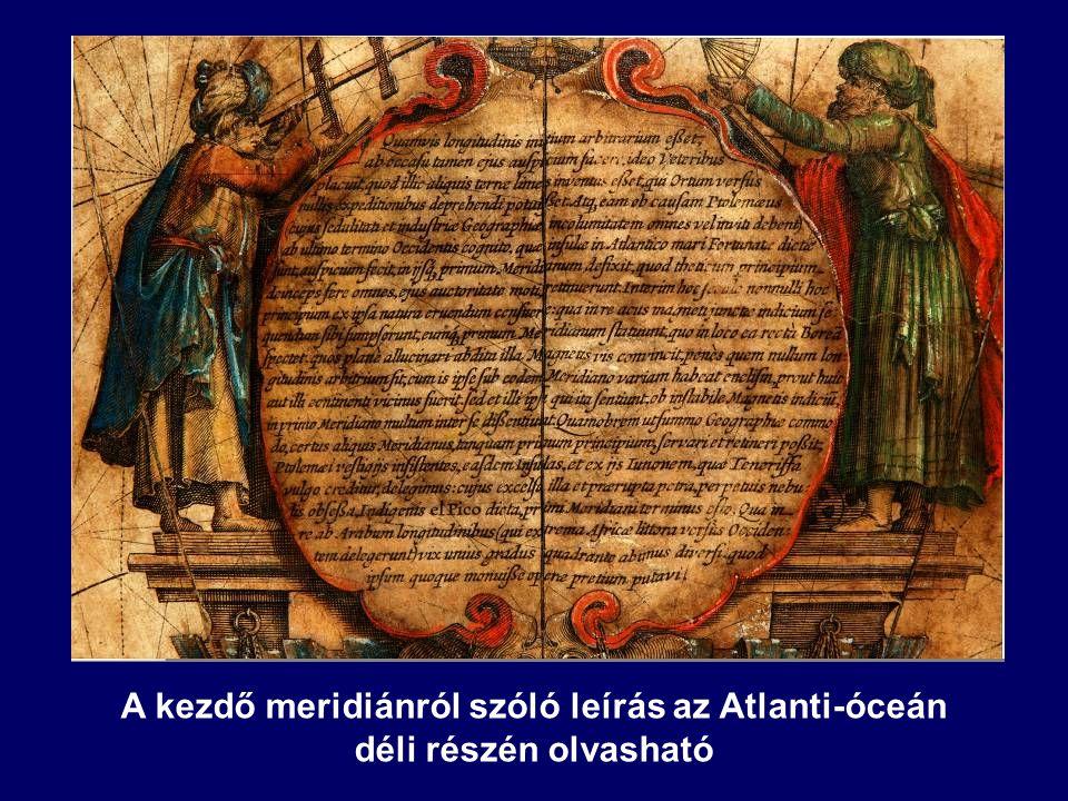A kezdő meridiánról szóló leírás az Atlanti-óceán