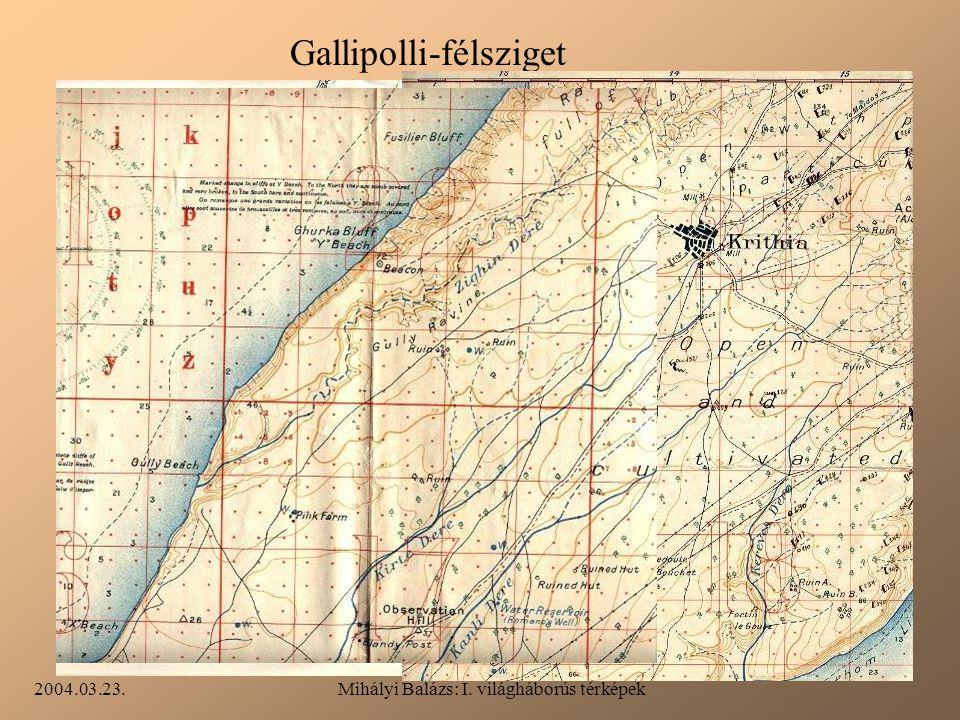 Mihályi Balázs: I. világháborús térképek