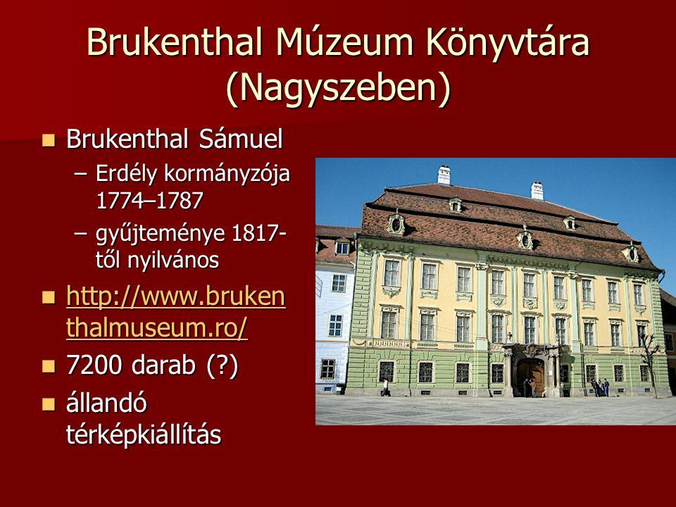 Brukenthal Múzeum Könyvtára (Nagyszeben)