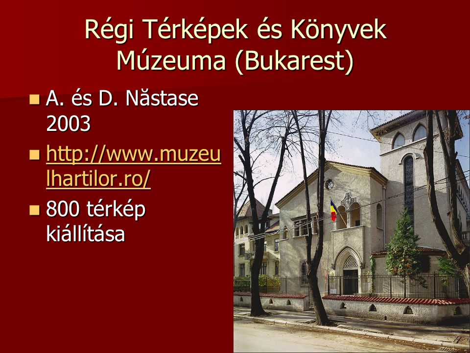 Régi Térképek és Könyvek Múzeuma (Bukarest)