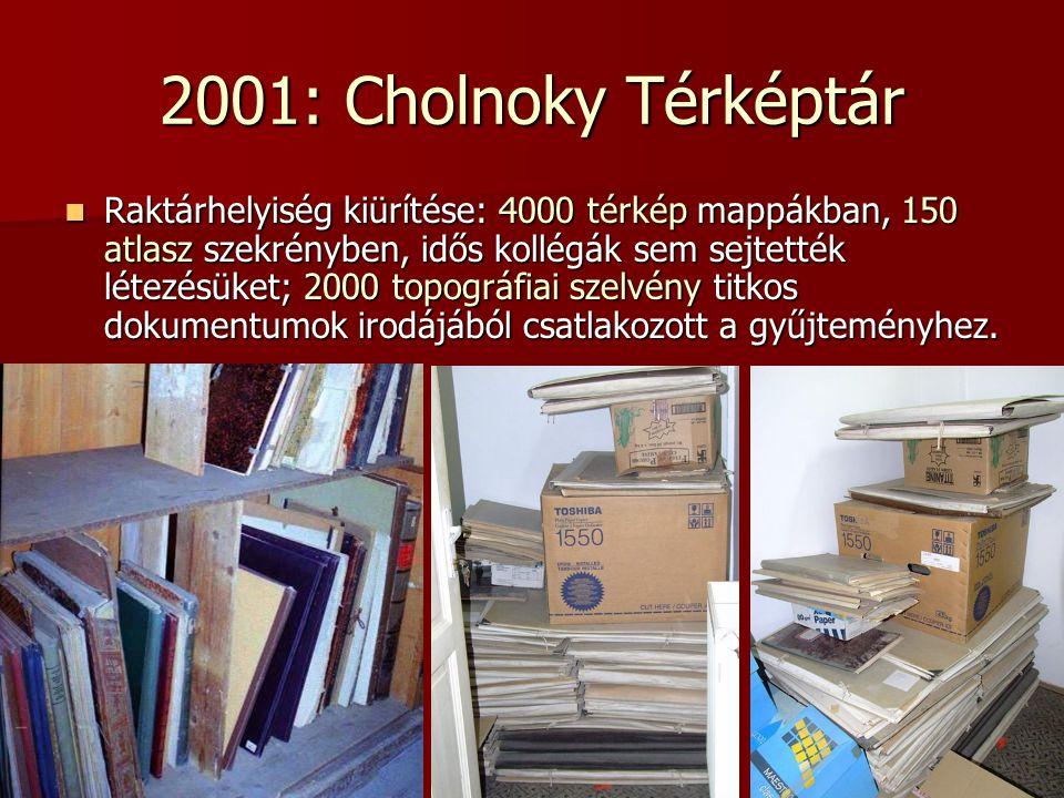 2001: Cholnoky Térképtár