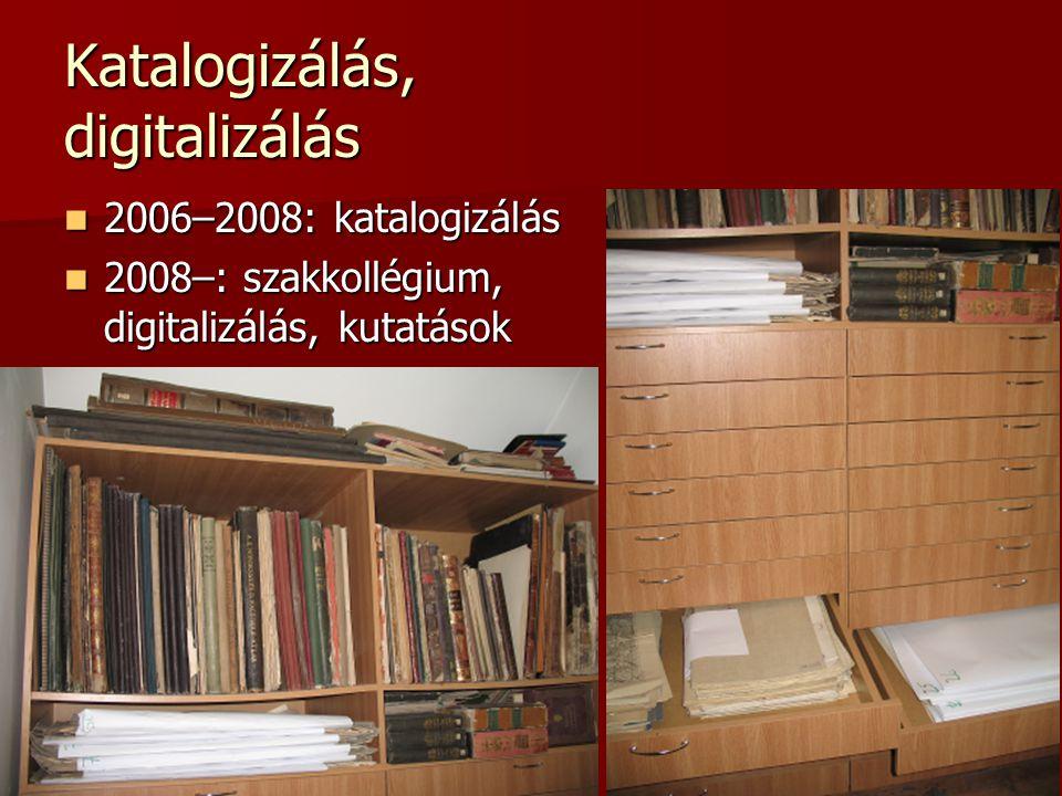 Katalogizálás, digitalizálás
