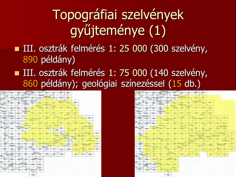 Topográfiai szelvények gyűjteménye (1)