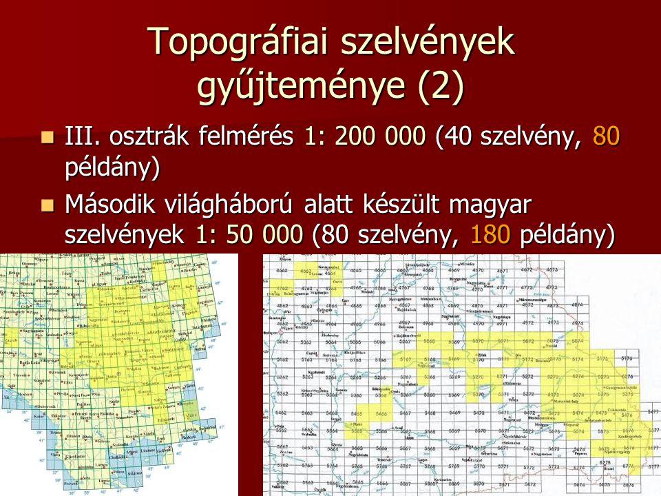 Topográfiai szelvények gyűjteménye (2)