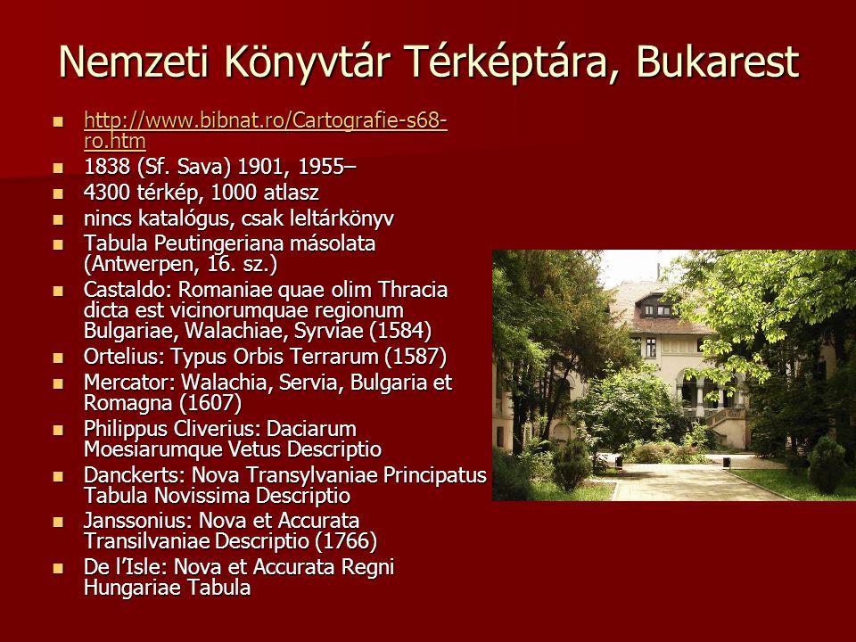 Nemzeti Könyvtár Térképtára, Bukarest