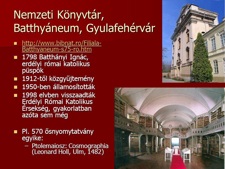 Nemzeti Könyvtár, Batthyáneum, Gyulafehérvár