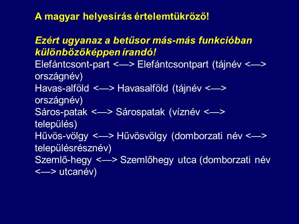 A magyar helyesírás értelemtükröző!