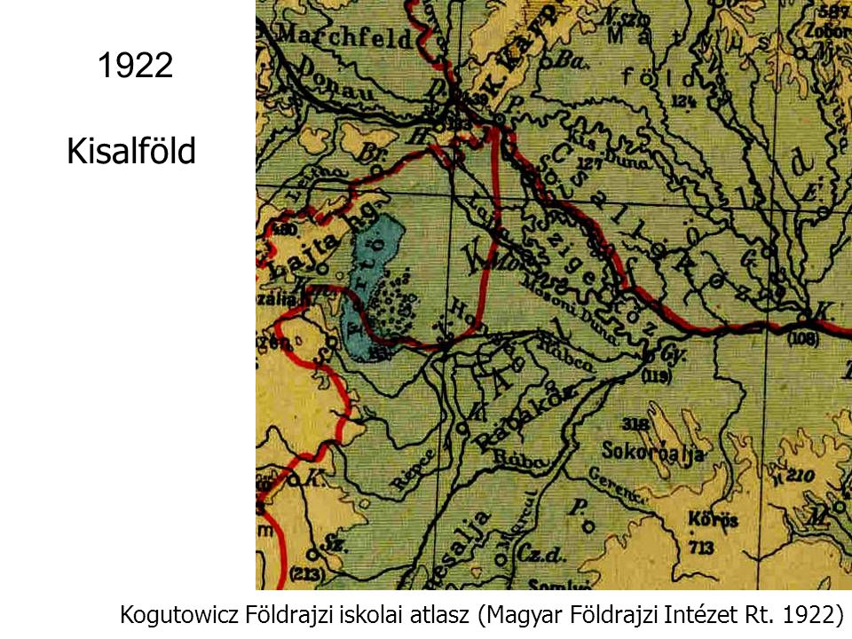 1922 Kisalföld Kogutowicz Földrajzi iskolai atlasz (Magyar Földrajzi Intézet Rt. 1922)