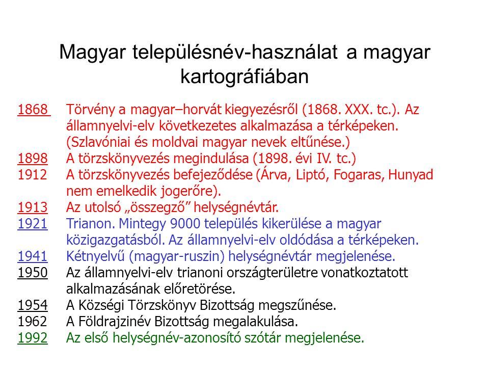 Magyar településnév-használat a magyar kartográfiában
