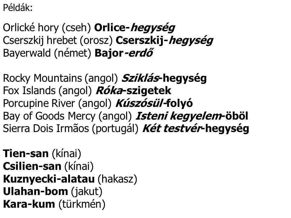 Orlické hory (cseh) Orlice-hegység