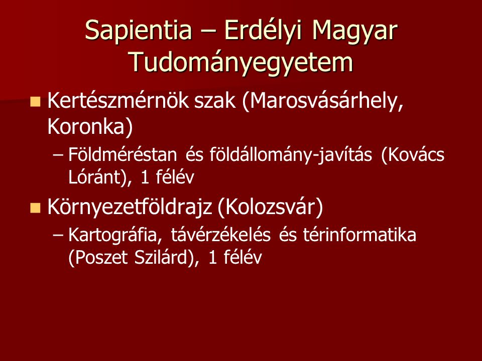 Sapientia – Erdélyi Magyar Tudományegyetem