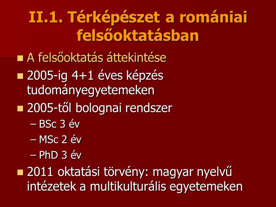 II.1. Térképészet a romániai felsőoktatásban