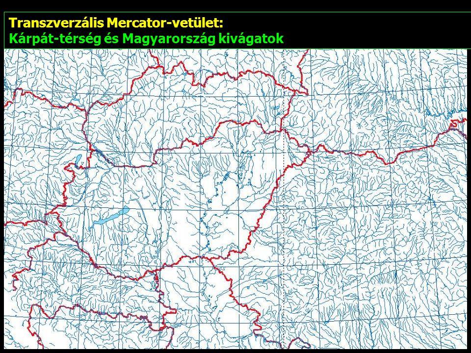 Transzverzális Mercator-vetület:
