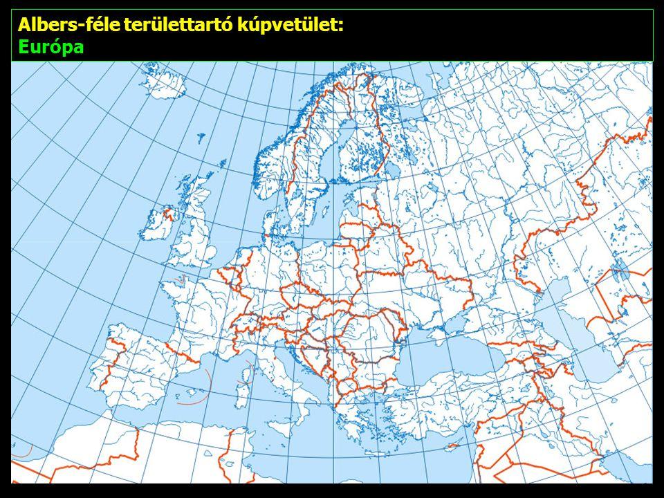 Albers-féle területtartó kúpvetület: Európa