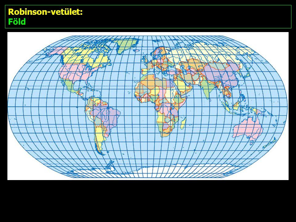 Robinson-vetület: Föld
