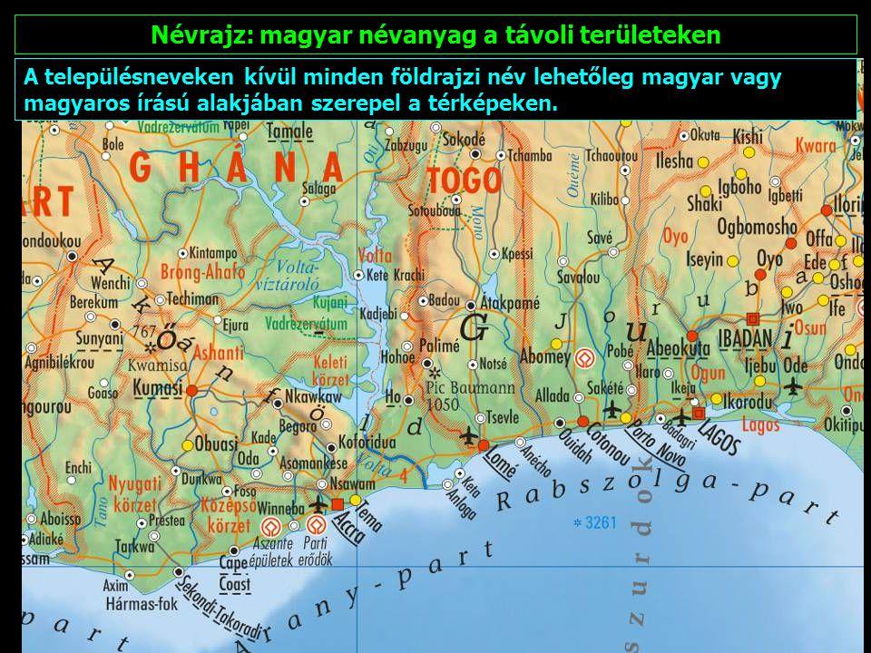 Névrajz: magyar névanyag a távoli területeken