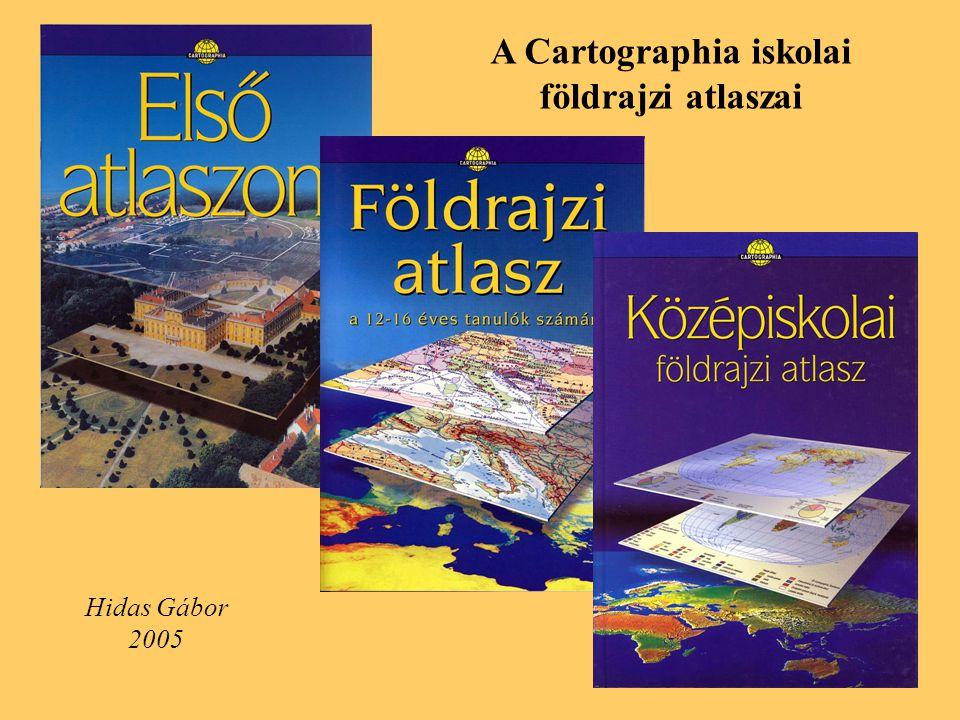 A Cartographia iskolai földrajzi atlaszai