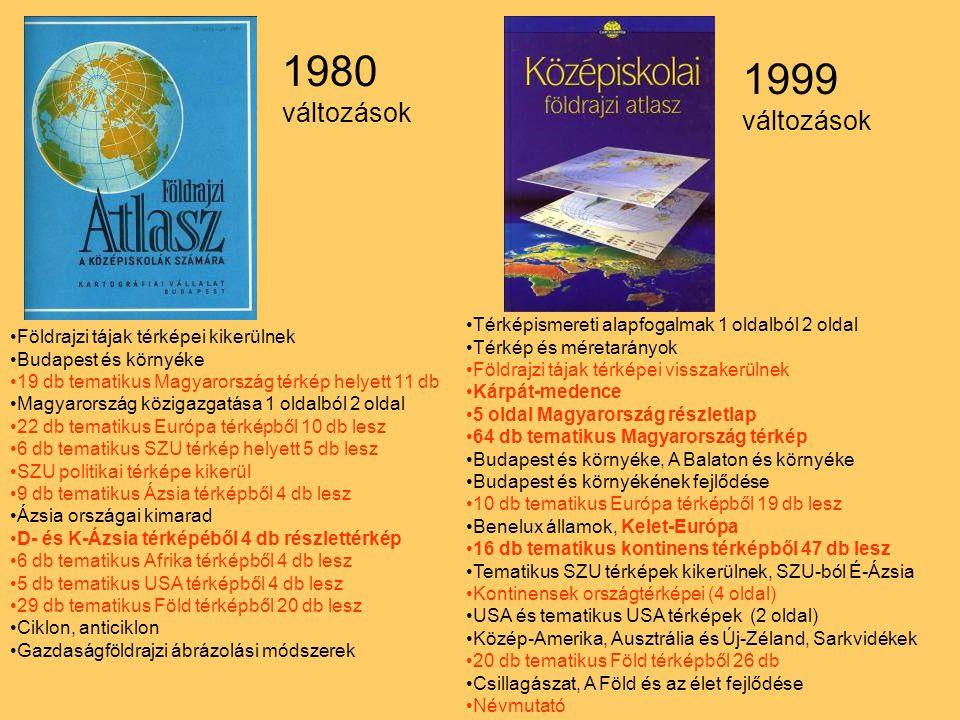 1980 1999 változások változások