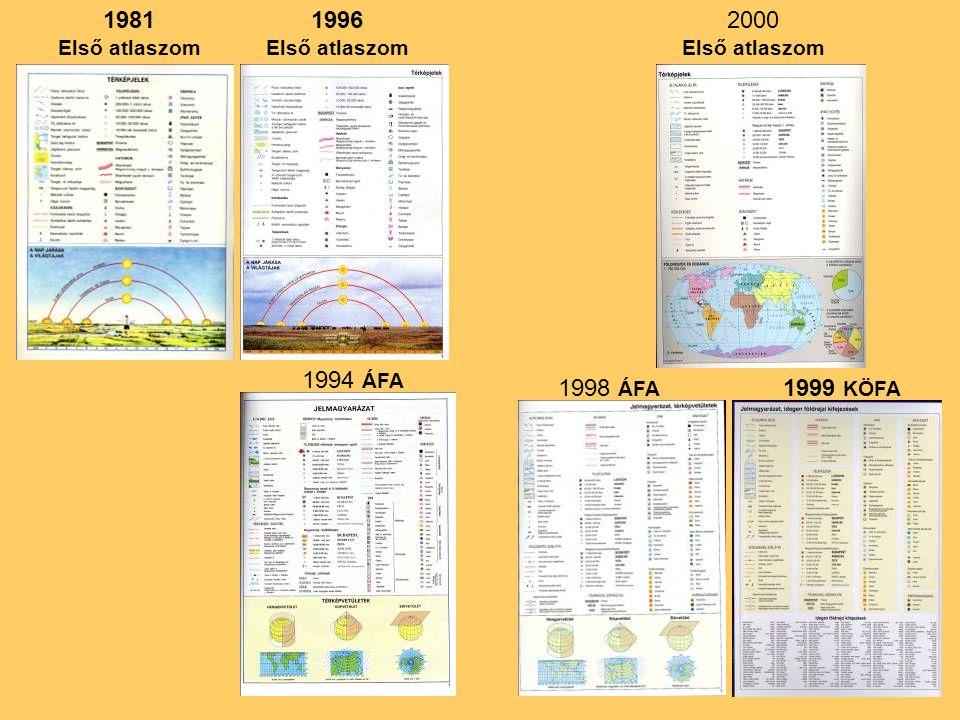 1981 1996 2000 1994 ÁFA 1998 ÁFA 1999 KÖFA Első atlaszom Első atlaszom