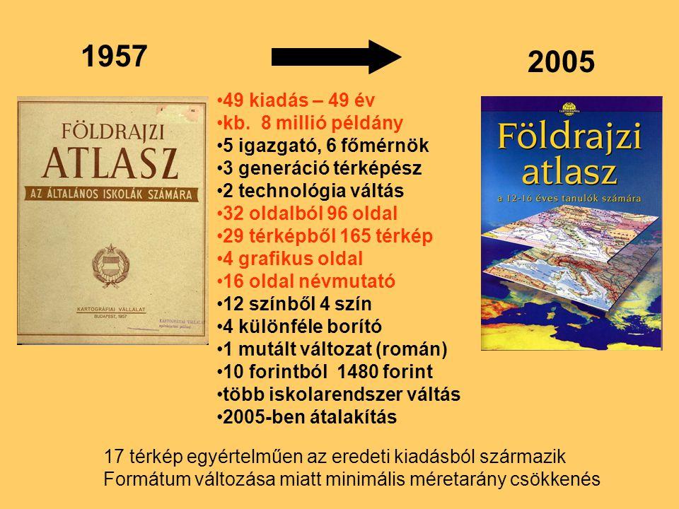 1957 2005 49 kiadás – 49 év kb. 8 millió példány