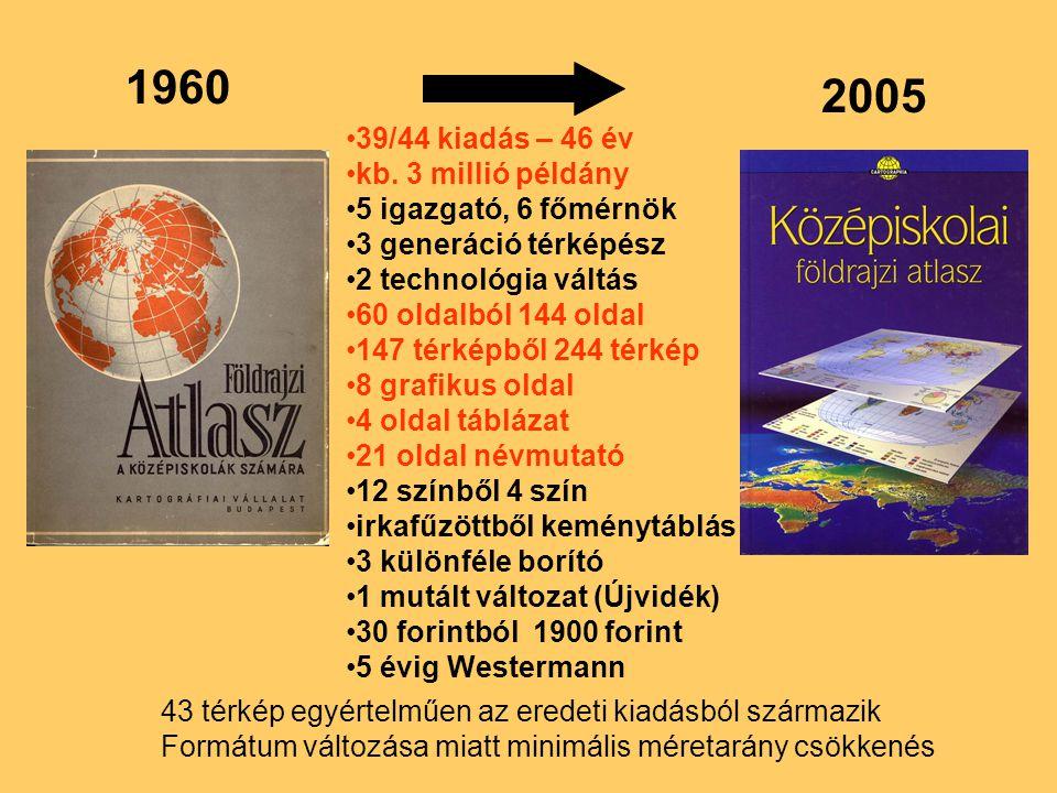 1960 2005 39/44 kiadás – 46 év kb. 3 millió példány