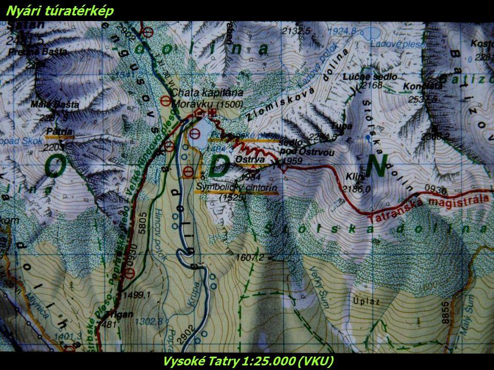 Nyári túratérkép Vysoké Tatry 1:25.000 (VKU)
