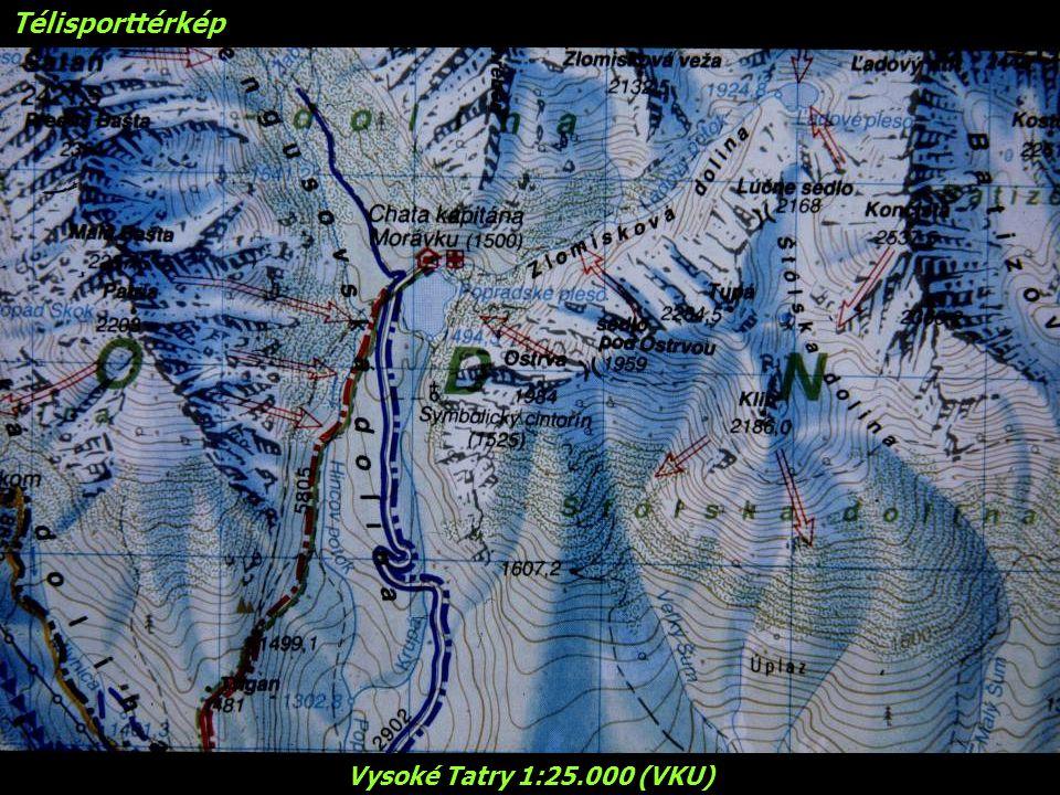 Télisporttérkép Vysoké Tatry 1:25.000 (VKU)