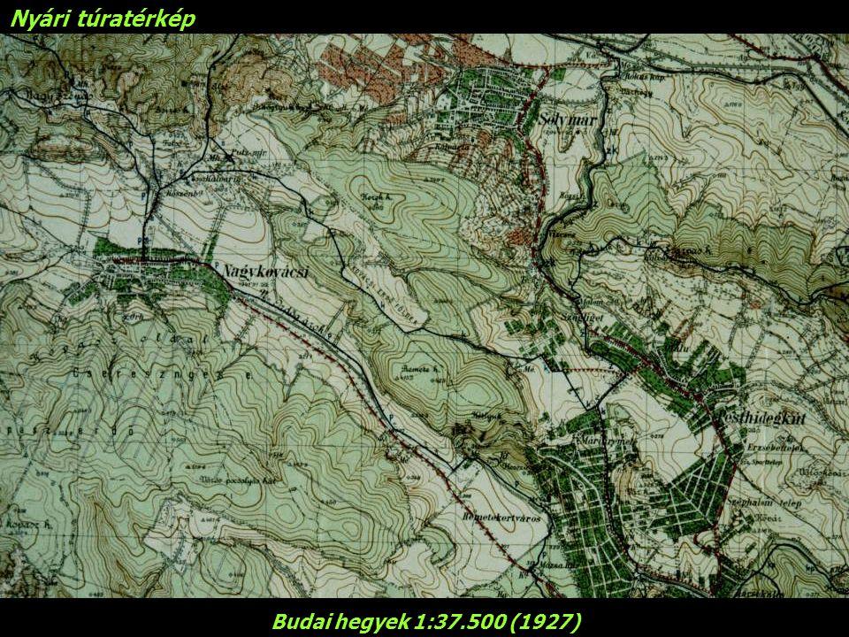 Nyári túratérkép Budai hegyek 1:37.500 (1927)