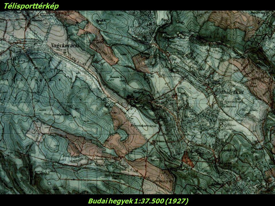 Télisporttérkép Budai hegyek 1:37.500 (1927)