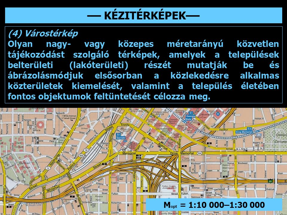 –– KÉZITÉRKÉPEK–– (4) Várostérkép