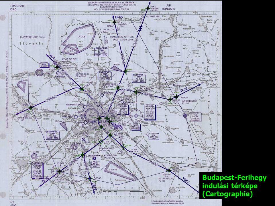 Budapest-Ferihegy indulási térképe (Cartographia)