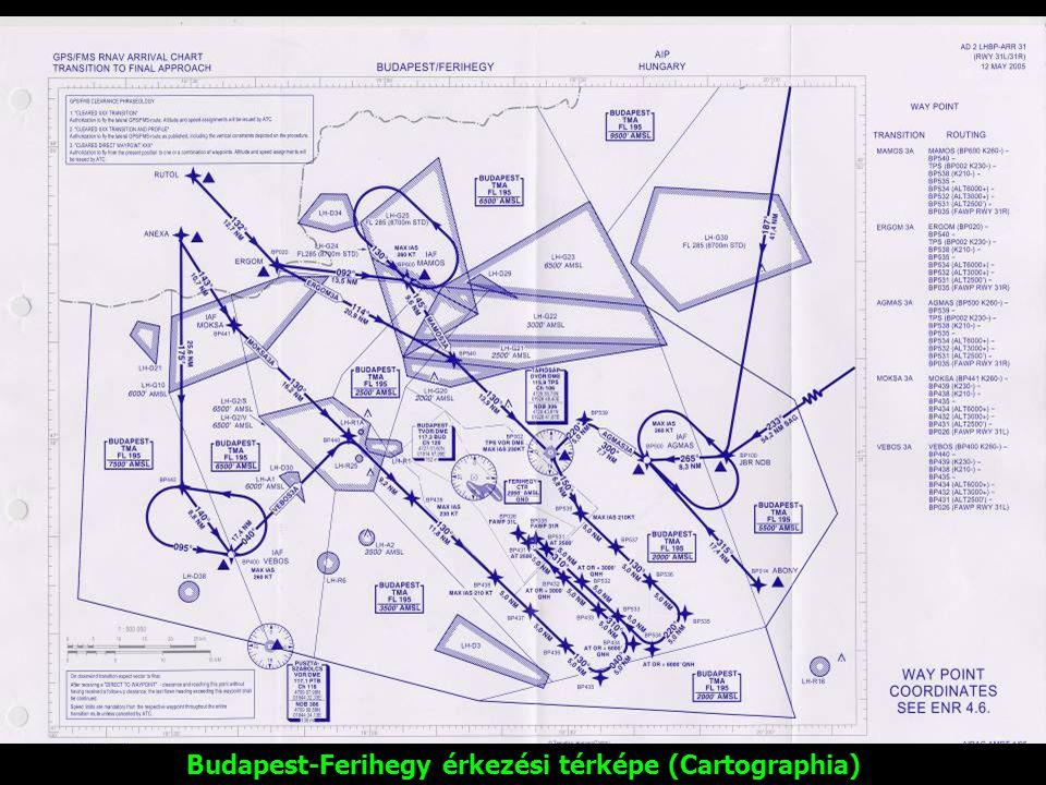 Budapest-Ferihegy érkezési térképe (Cartographia)