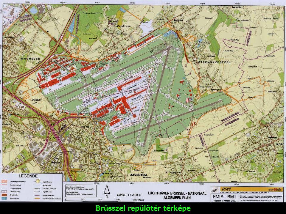 Brüsszel repülőtér térképe