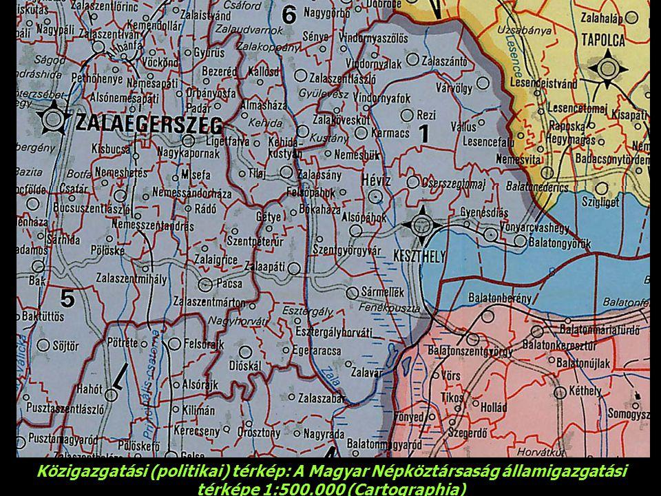Közigazgatási (politikai) térkép: A Magyar Népköztársaság államigazgatási térképe 1:500.000 (Cartographia)