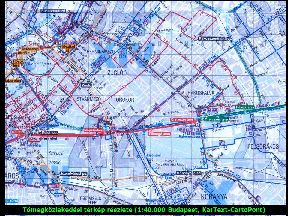 Tömegközlekedési térkép részlete (1:40