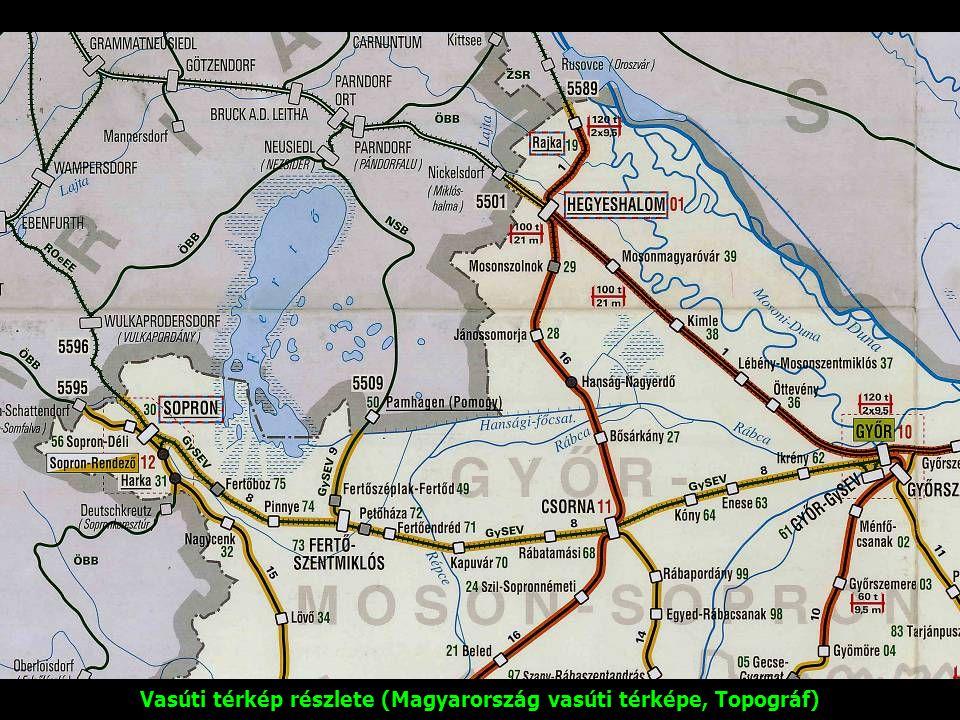 Vasúti térkép részlete (Magyarország vasúti térképe, Topográf)